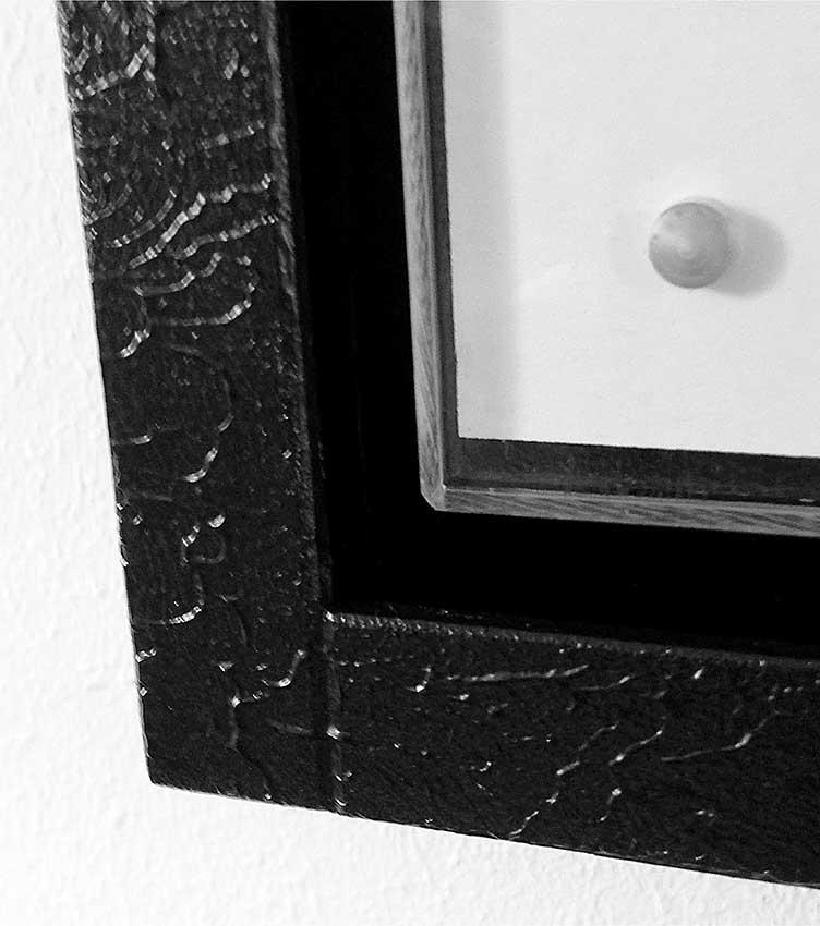 Grote Fotolijst Urn Composiet, zwart (4 liter)