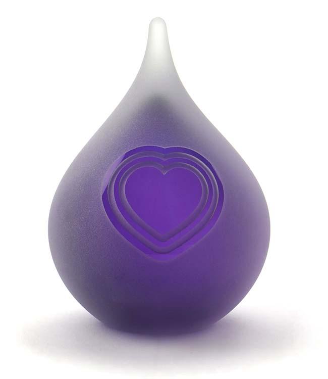 Bubble Traan Dierenurn Kloppend Hart Frosted Purple (0.12 liter)
