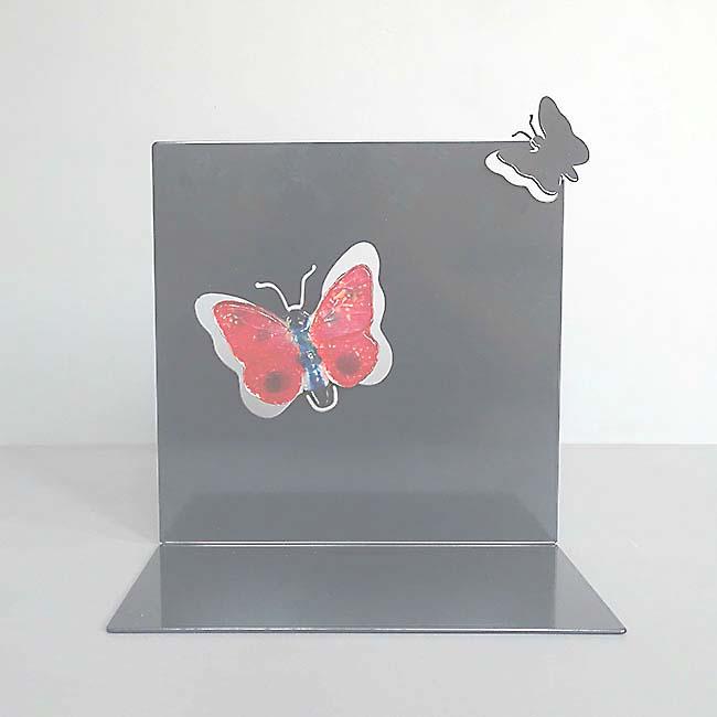 Staand RVS Gedenkaltaar Fladderende Vlinder (0.002 liter)