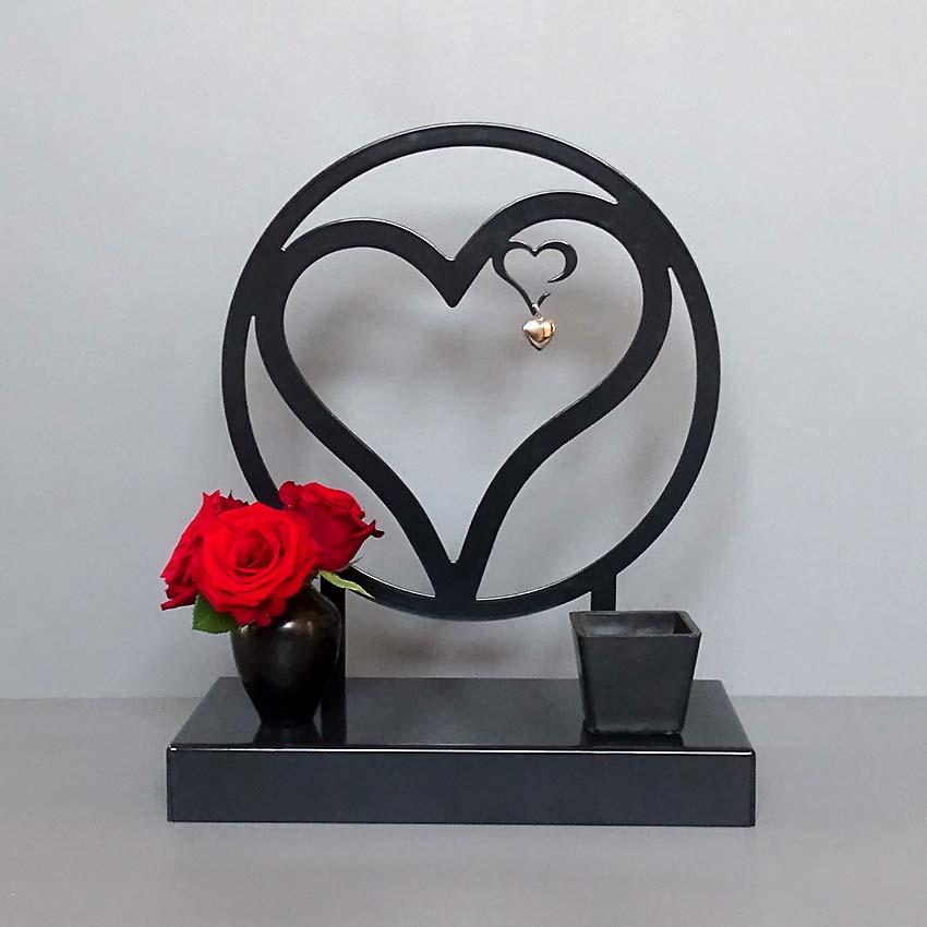 Grote Gedenkaltaar Urn Altijd In Mijn Hart, Zwart of Wit (3 liter)