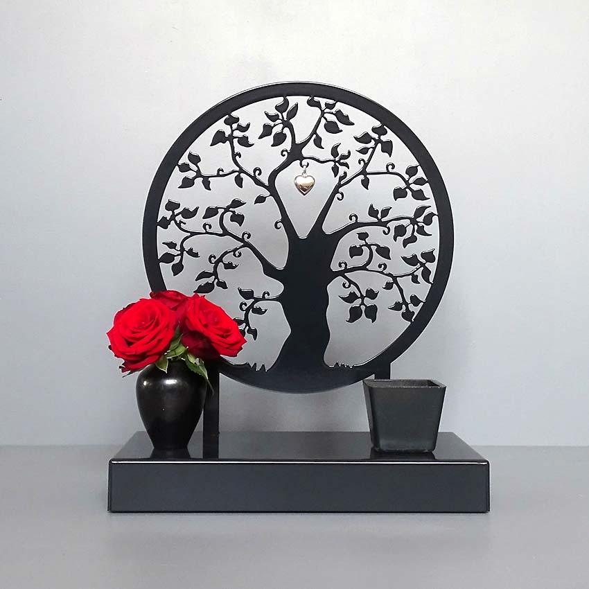 Middelgroot Gedenkaltaar Urn Herinneringsboom, Zwart of Wit (1.8 liter)