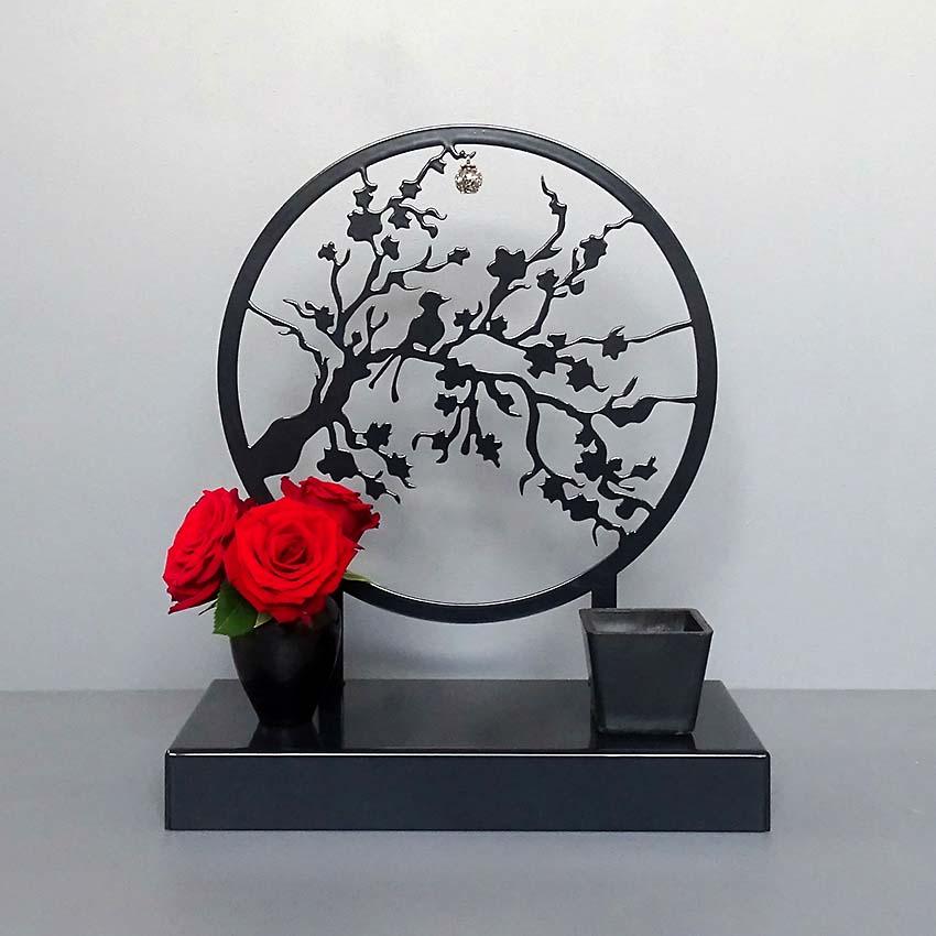 Middelgroot Gedenkaltaar Urn Herinneringstak, Zwart of Wit (1.8 liter)