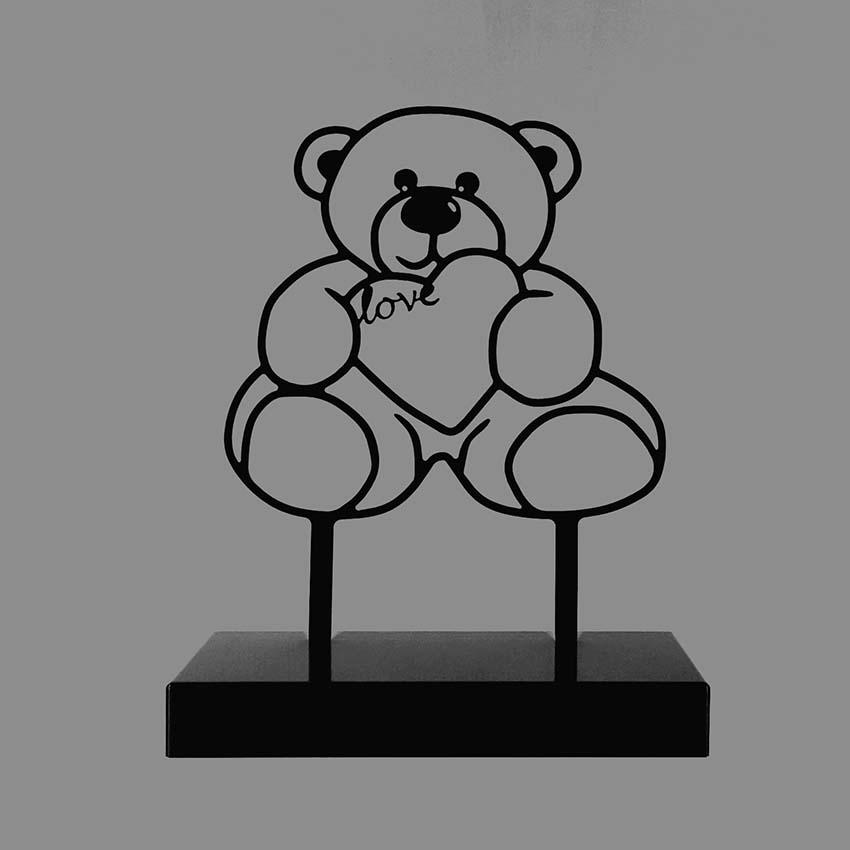 Dieren Gedenkaltaar Urn Teddybeer, Zwart of Wit (3 liter)