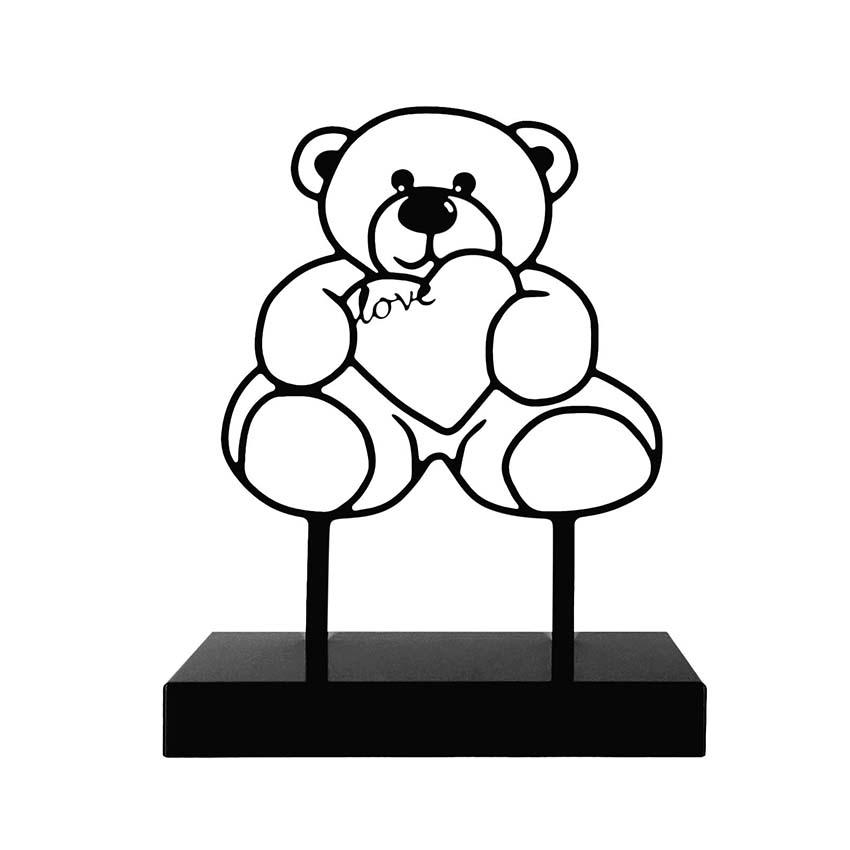 Grote Gedenkaltaar Urn Teddybeer, Zwart of Wit (3 liter)