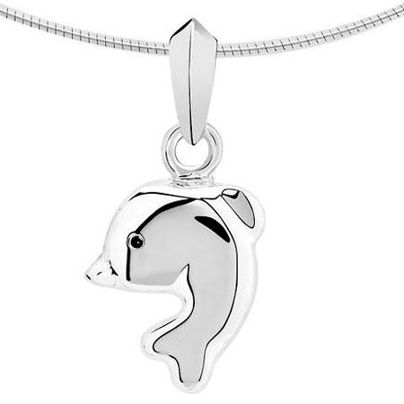 Zilveren Ashanger dolfijn