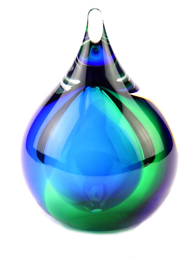 Kleine Kristalglazen 3D Bubble Blue-Green Urn (0.12 l.)