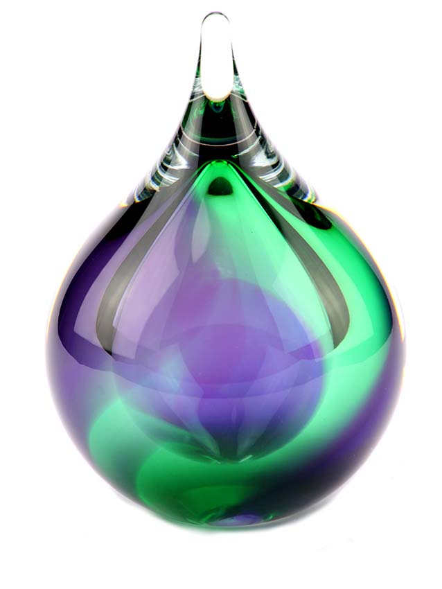 Kleine Kristalglazen 3D Bubble Purple-Green-Blue Urn (0.12 l.)
