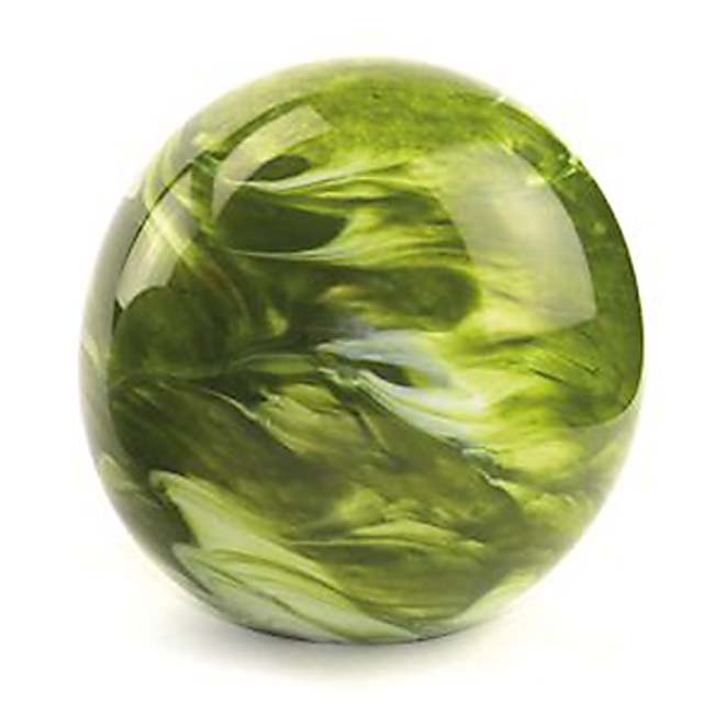 Middelgrote Kristalglazen Bol Urn Elan Marble Green (1.5 liter)