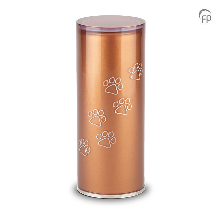 Medium Kristalglazen Cilinder Dierenurn Brown (1 liter)