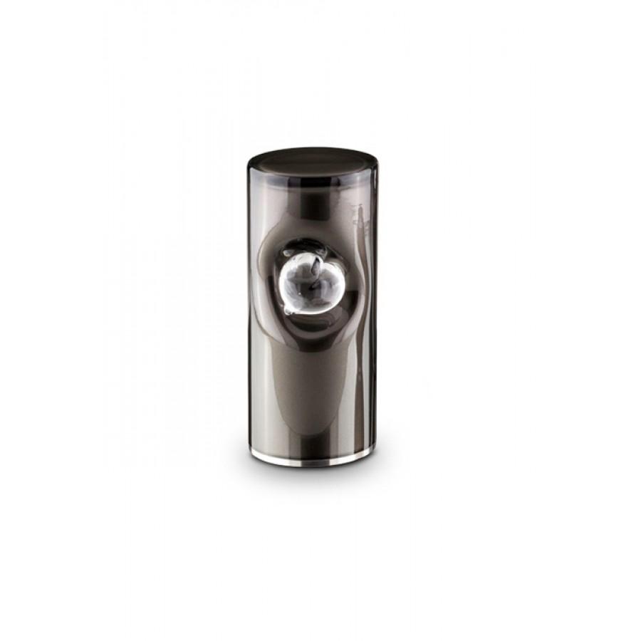 Middelgrote Kristalglazen Cilinder Urn Zwart (1 liter)