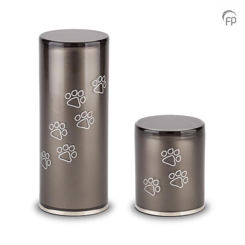 Medium Kristalglazen Cilinder Dierenurn Black (1 liter)