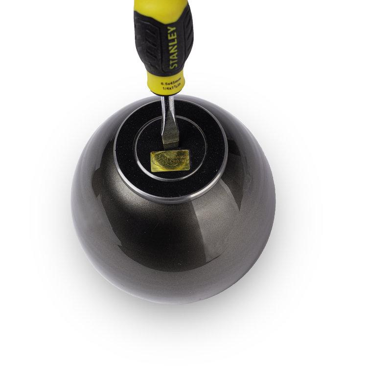 Urn met Waxinelichtje Zwart (0.5 liter)