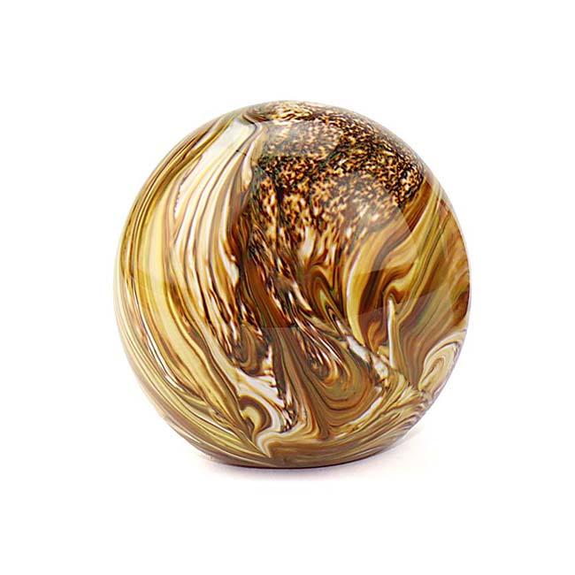 Kleine Kristalglazen Bal Dierenurn Elan Marble Earth (0.5 liter)