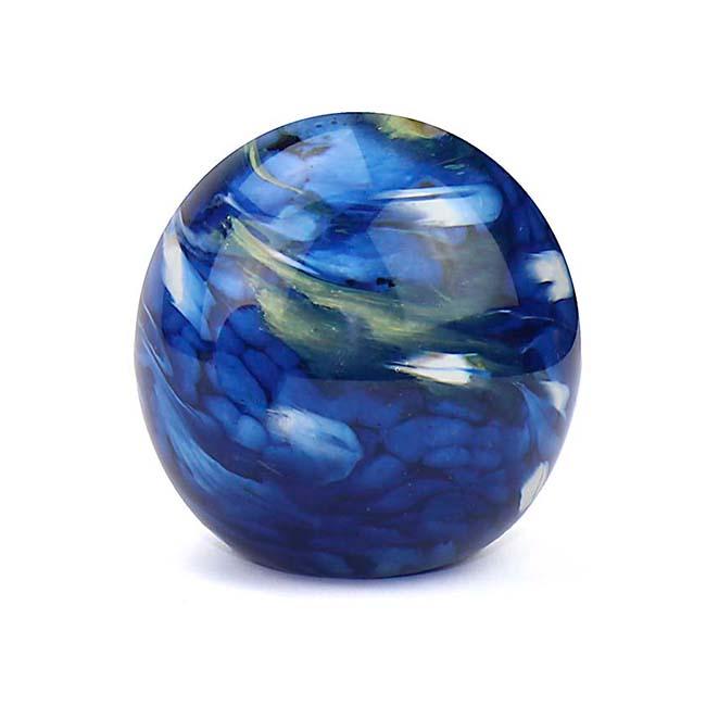 Kleine Kristalglazen Bol Urn Elan Marble Blue (0.5 liter)