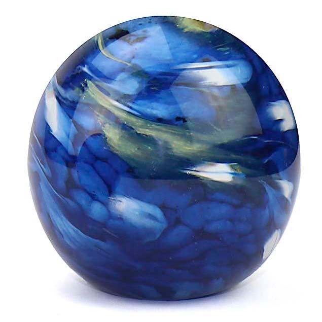 Middelgrote Kristalglazen Bol Urn Elan Marble Blue (1.5 liter)