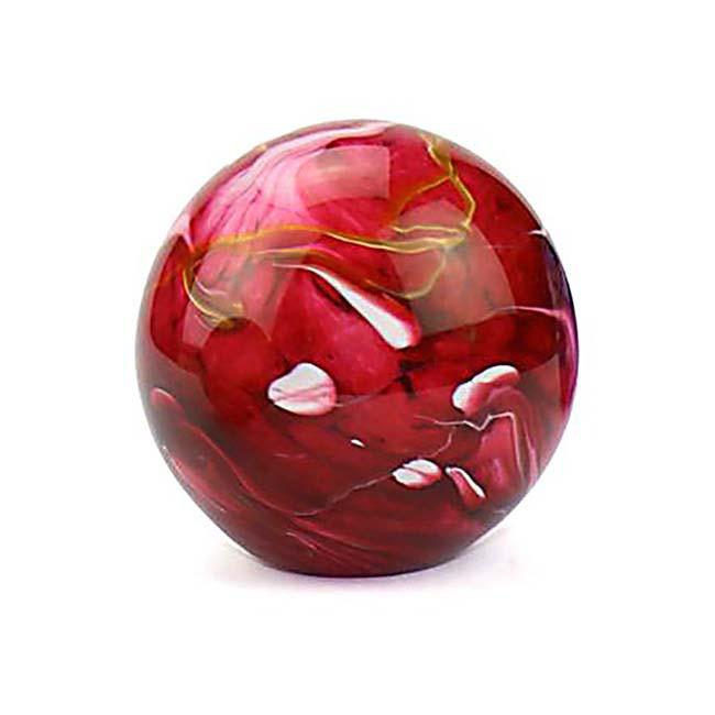 Kleine Kristalglazen Bol Urn Elan Marble Red (0.5 liter)