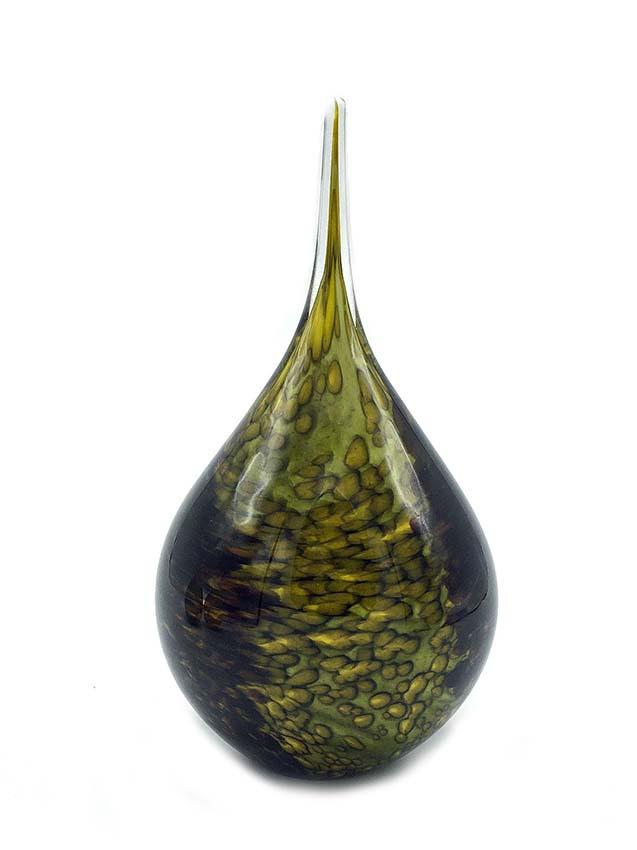 Kristalglazen 3D Traan Dierenurn Nature Opaque (0.18 liter)