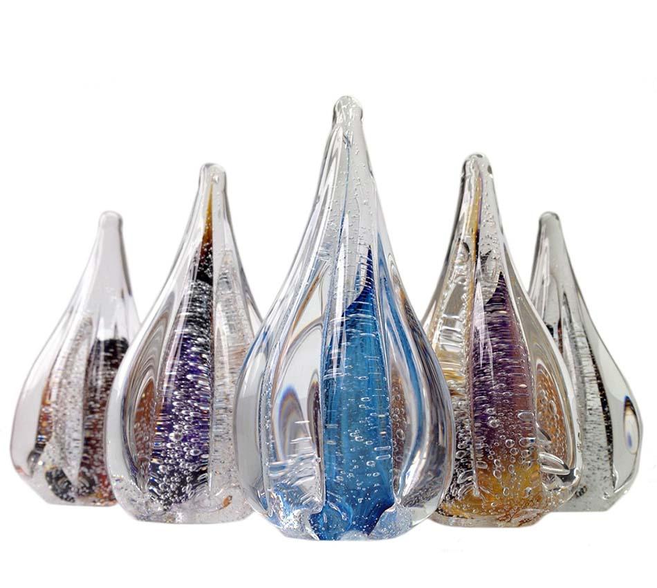 Kristalglazen 3D Mini Sparkle Urn Roze (0.04 liter)