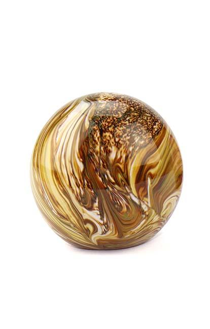 Mini Bal Dieren Urn Elan Bulb marble Earth (0.1 liter)