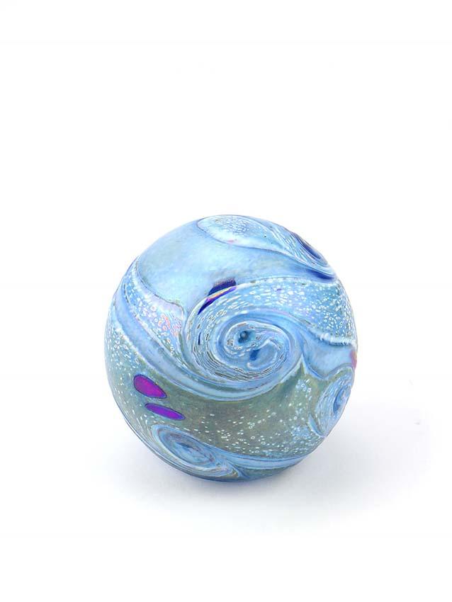 Glazen Mini Bal Dieren Urn Elan Bulb Blue (0.1 liter)