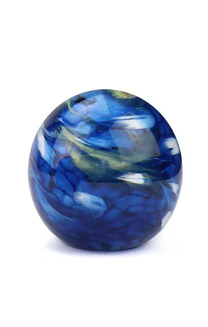 Kristalglazen Mini Bol Urn Elan Bulb marble Blue (0.1 liter)