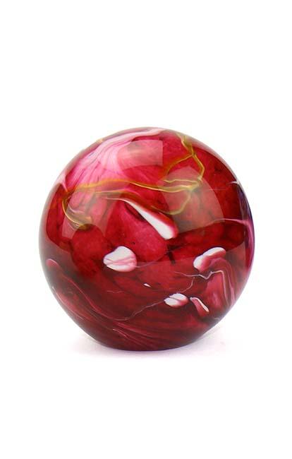 Kristalglazen Mini Bol Urn Elan Bulb marble Red (0.1 liter)