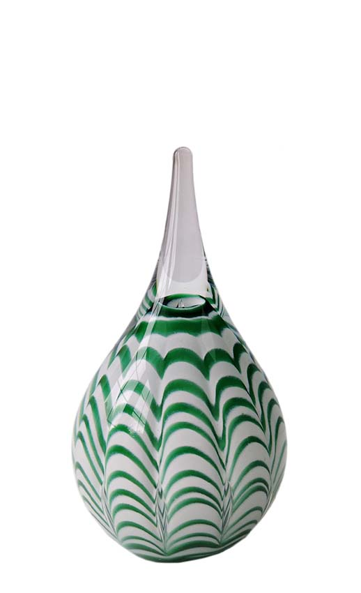 Kristalglazen Ripple Miniurn Green Waves (0.04 liter)