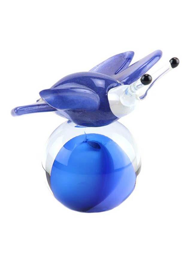 Kristalglazen 3D Mini Vlinder Urn Blauw-Paars (0.05 liter)