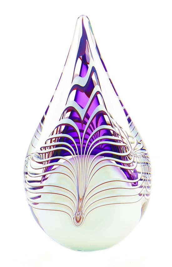 Kristalglazen 3D Traan Dierenurn Purple (0.2 liter)