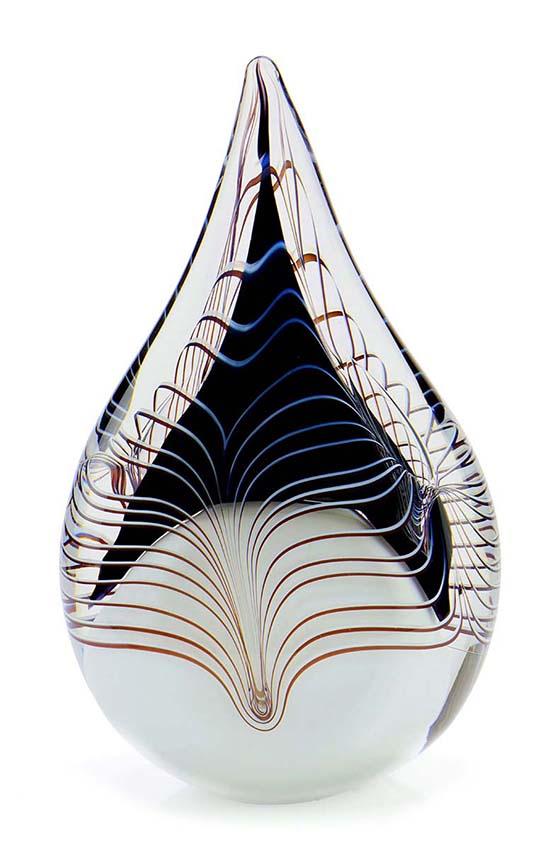 Kleine Kristalglazen 3D Traan Urn Zwart (0.2 liter)