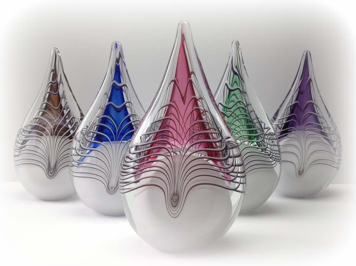 Kleine Kristalglazen 3D Traan Urn Paars (0.2 liter)