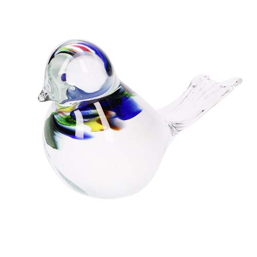 Kristalglazen Mini Vogel Urn Multicolour Buikje (0.03 liter)