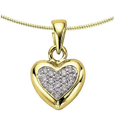 Ashanger hartje met diamant