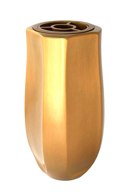 Zware RVS Design Grafvaas - Goud