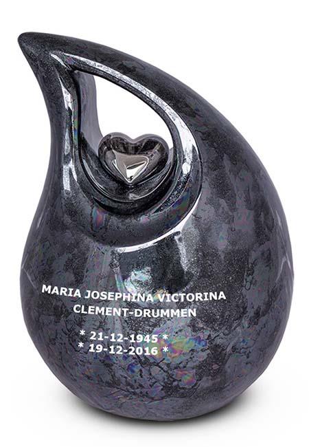 Tekstgravure op voor- of achterkant Keramische Urn