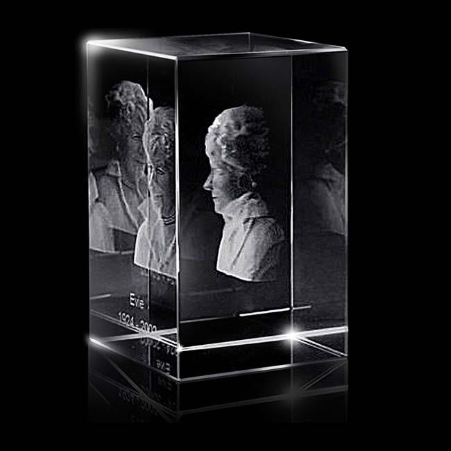 Kristalglas Rechthoek met Lasergravure (16 cm.)