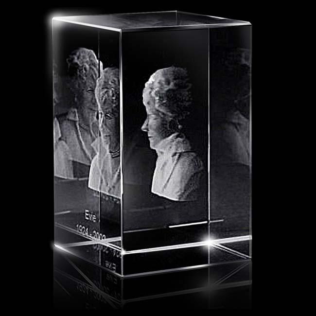 XL Kristalglas Rechthoek met Lasergravure (18 cm.)