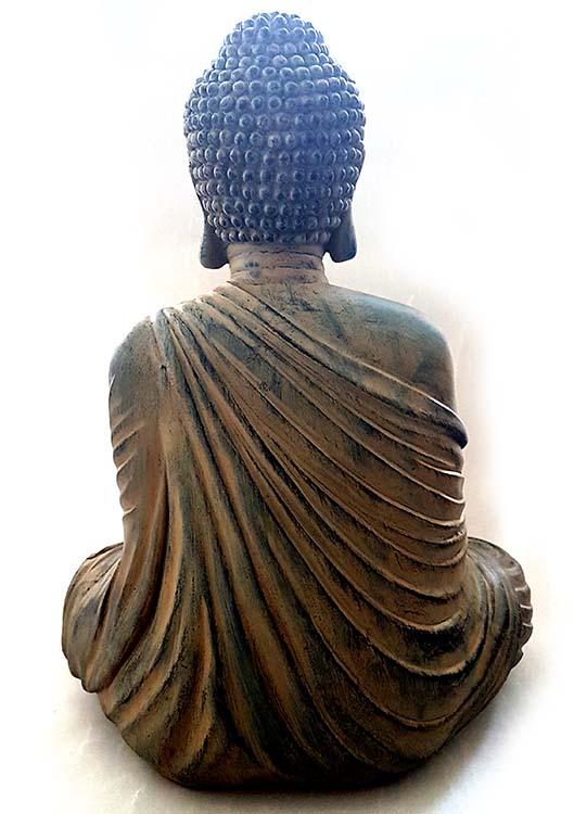 Amithaba Boeddha Urn Lotuszit Dark Gold (4.5 liter)