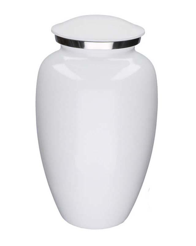 Grote Elegance Dierenurn Glimmend Wit (3.5 liter)