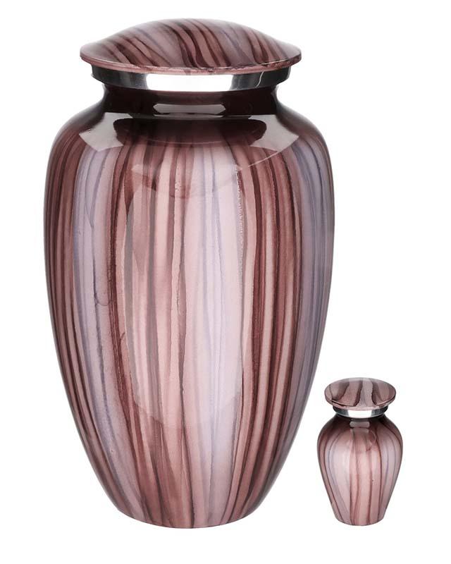 Elegance Mini Urn Pink Stripes  (0.1 liter)
