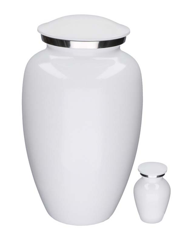 Grote Elegance Urn Glimmend Wit (3.5 liter)