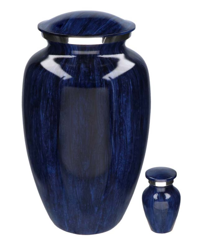 Elegance Hart Urn Darkblue Stripes (0.1 liter)