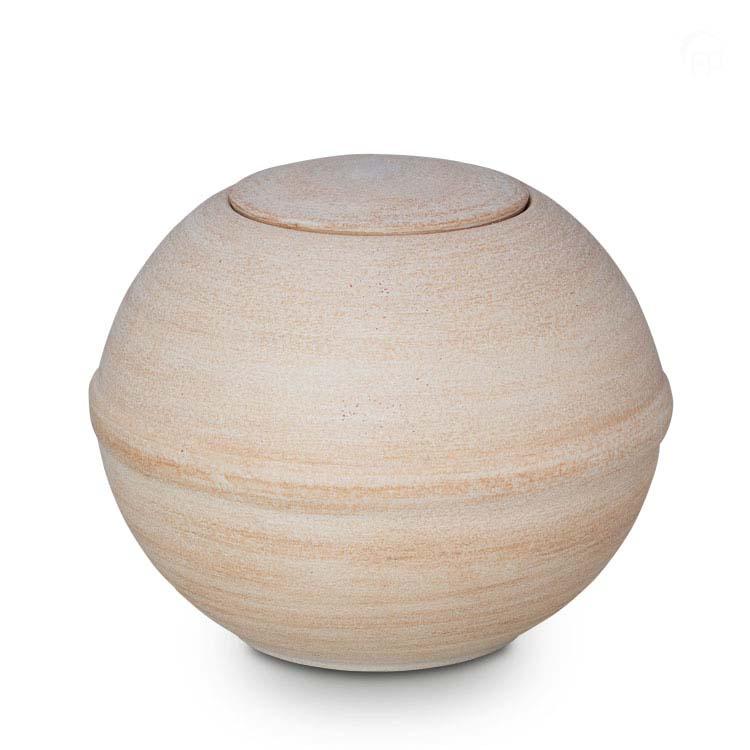 Grote Biologisch Afbreekbare Eco Urn Beige-Wit (3 liter)