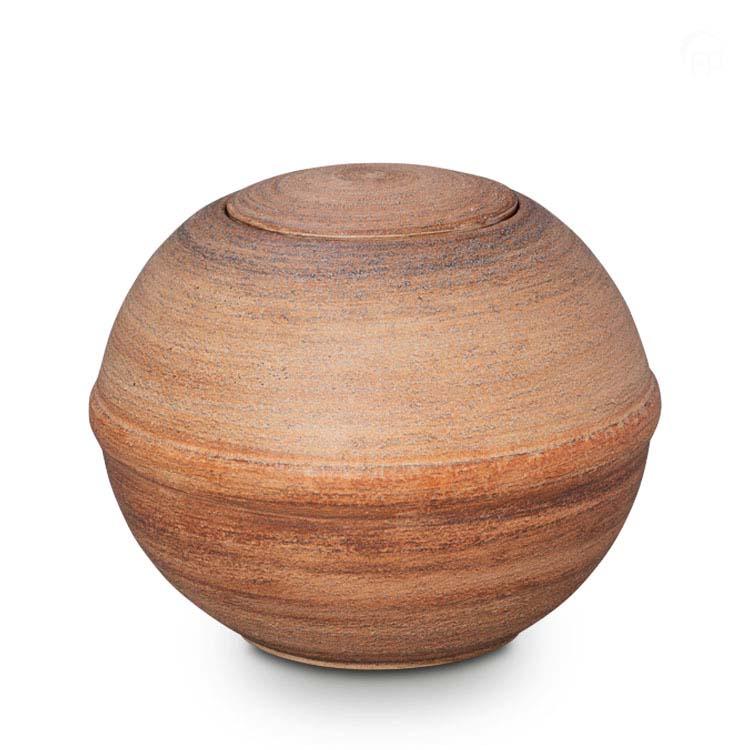 Grote Biologisch Afbreekbare Eco Urn Beige-Bruin (3 liter)