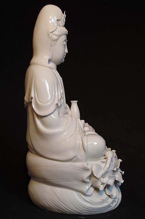 Grote Chinese Buddha Urn Kwan Yin (6 liter, geschikt als duo urn)