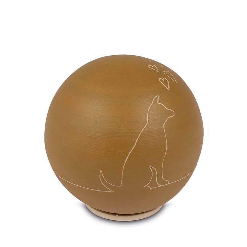 Grote Keramische Bol Dierenurn Hond (0.75 liter)