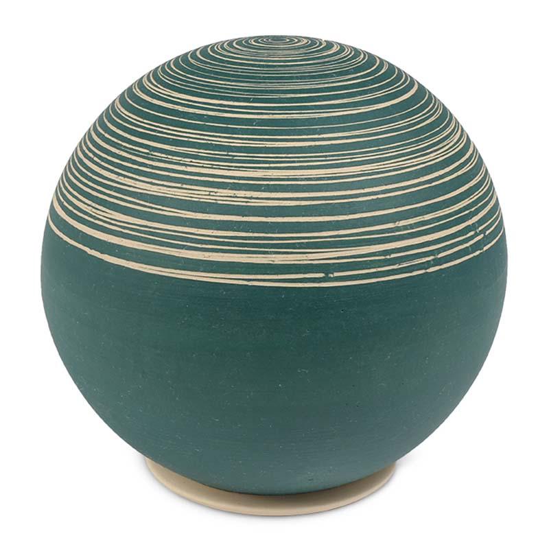 Grote Keramische Bol Urn Petrol Slib (3 liter)