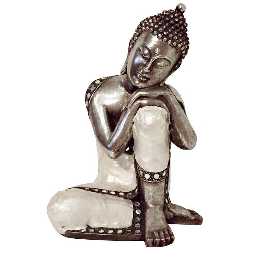 Grote Buddha Urn Slapende Indische Buddha (ca. 1.9 liter)
