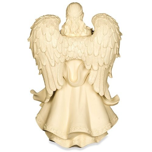 Engel met Bloemen Urn (5.8 liter, geschikt als duo-urn)