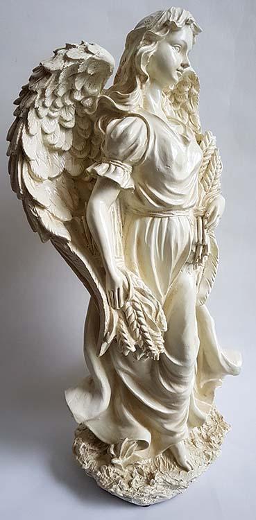 Grote Staande Engel Dierenurn met Aren (3.5 liter)